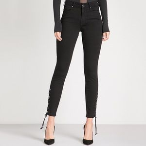 Good American • Good Legs Lace-Up Jeans Black